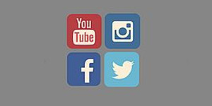 Symbol Twitter, Instagram, Facebook und Youtube
